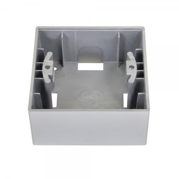 Gunsan, 01281500000148, Visage, Schalterserie, 1-fach Rahmen, Aufputzgehäuse, Silber, Erkelenz