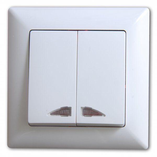 Gunsan, 01281100200104, Visage, Serienschalter, mit Beleuchtung, Erkelenz
