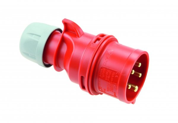 CEE Drehstromstecker Stecker Shark 400V 16A IP44 PCE 015-6