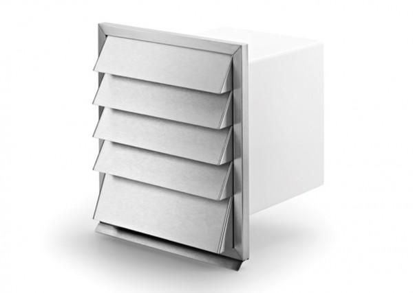 Naber, 4022026, V-Klima A/Z 125 Ab- und Zuluft-Mauerkasten 1, weiß/Edelstahl, Erkelenz
