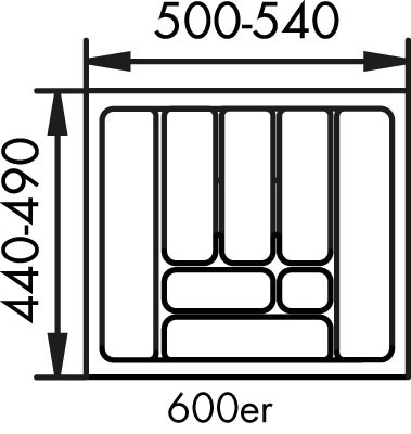 Naber, 8034129, Besteckeinsatz 1, für 600er, Schrank, Erkelenz