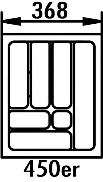 Naber 8030010 Besteckeinsatz 4, für 450er Schrank, B 368, T 473 mm