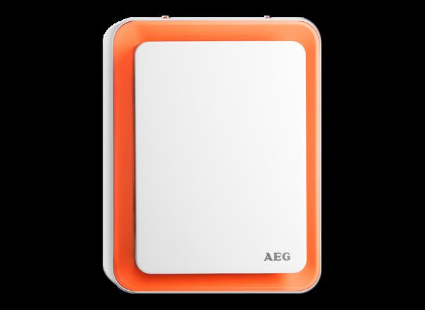AEG, HS207, Heizlüfter, Standgerät, 1800W, weiß/orange, Erkelenz