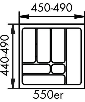 Naber, 8034128, Besteckeinsatz 1, für 550er, Schrank, Erkelenz