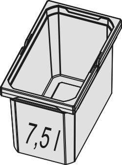 Naber, 8012327, Ersatzeimer, hellgrau, Erkelenz