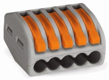 Wago 222-415, Verbindungsklemme 5x 0,08 - 4mm²