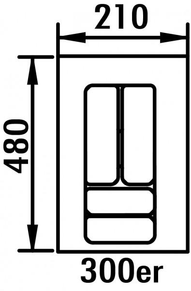 Naber, 8034255, Besteckeinsatz 5, für 300er Schrank, B 210, T 480 mm, Erkelenz