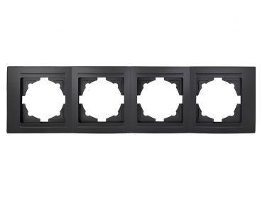 Gunsan,Moderna,4-fach Rahmen,schwarz,Schalter,Dimmer,01293400000145,Erkelenz