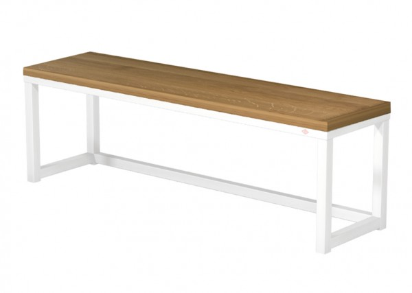 Naber, 3032087, Sitzfläche, Echtholz, für Bankgestell B110, Echtholz, Eiche lackiert, Erkelenz