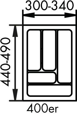 Naber, 8034125, Besteckeinsatz 1, für 400er, Schrank, Erkelenz