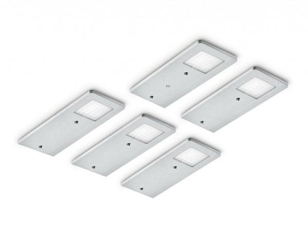 Naber, 7061264, Menta, Set-5, LED mit LED Touch Schalter u. Dimmer Unterbauleuchte , Erkelenz