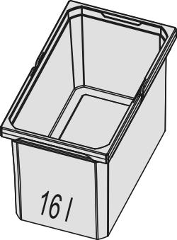 Naber, 8012490, Ersatzeimer, hellgrau, 16 Liter, Erkelenz