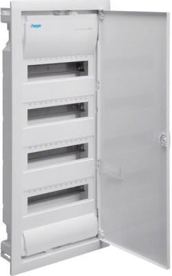 Hager VU48NC Kleinverteiler Unterputz 4x12TE Kunststoff IP30 inkl. Tür