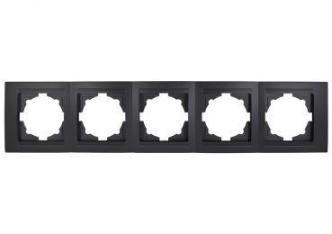 Gunsan Moderna, 01293400000146, 5-fach Rahmen,Steckdose, Schalter, Dimmer, schwarz, Erkelenz