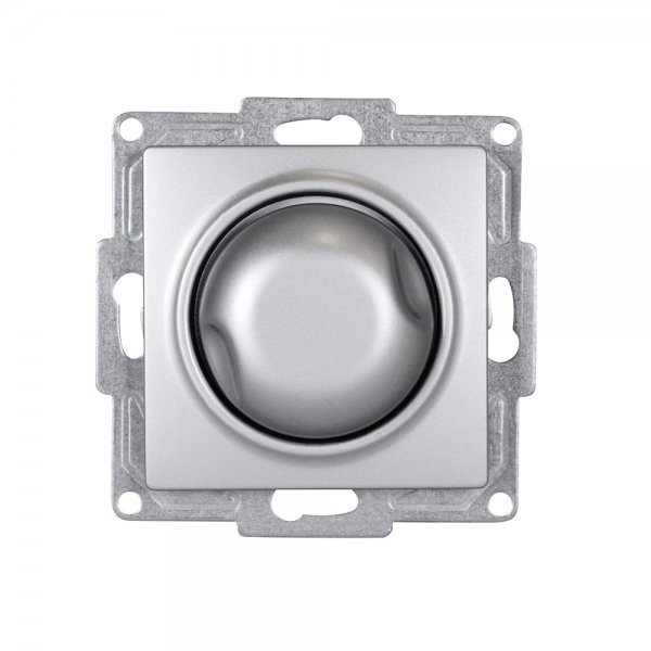 Gunsan, 1281500160126, Visage, Dimmer, Switch, 1000W, Unterputz, Silber, Erkelenz