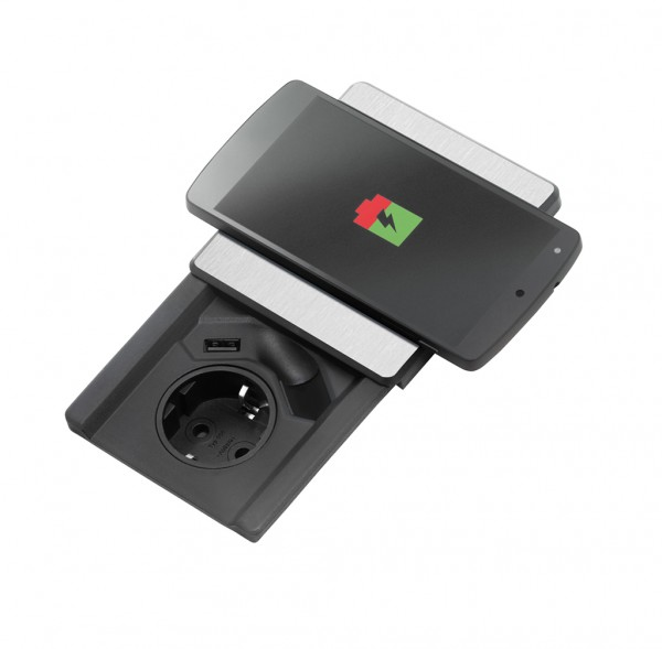 Naber, 8031158, Evoline® Square-USB Qi, Erkelenz
