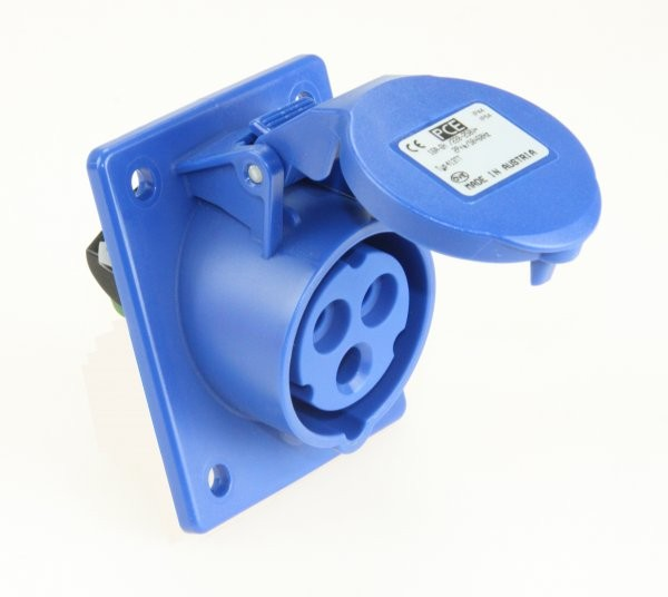 CEE Anbausteckdose Turbo Twist schräg 230V 16A IP44 PCE 413-6TT