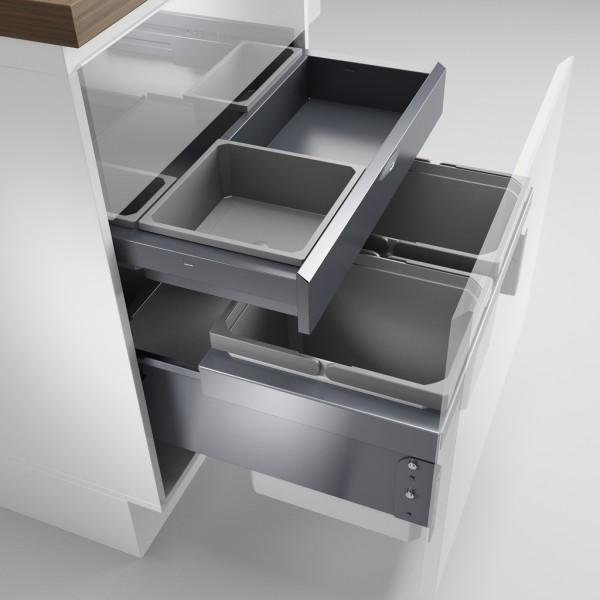 Naber 8012802, Cox® Base 360 K/600-2 mit Base-Board, ohne Biodeckel, anthrazit, H 460 mm, Erkelenz