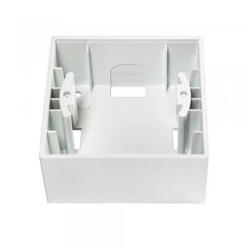 Gunsan, 01281100000148, Visage, Schalterserie, 1-fach Rahmen, Aufputzgehäuse, weiß, Erkelenz