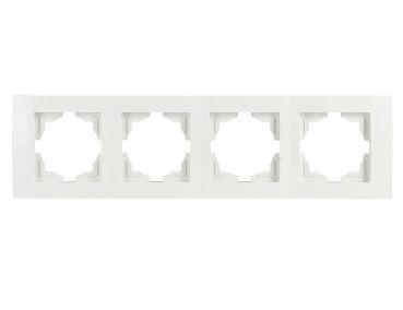 Gunsan Moderna, 4-fach Rahmen,Steckdose, Schalter, Dimmer, weiß,01291100000145,Erkelenz