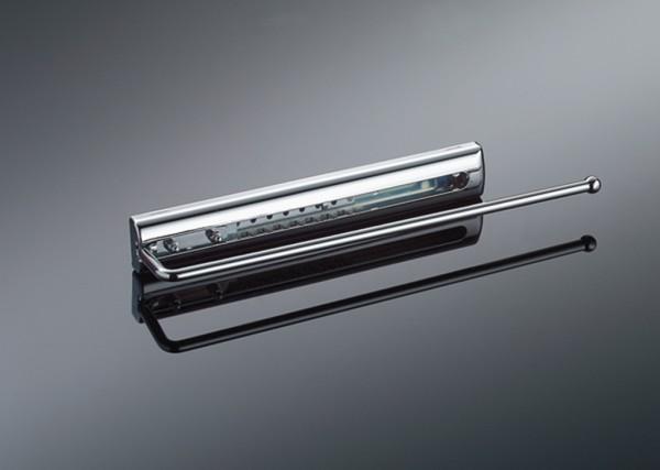 Naber, 8031089, Handtuchhalter fürs Bad, mit Abdeckung, 1-armig, B 65 mm, chrom, Erkelenz