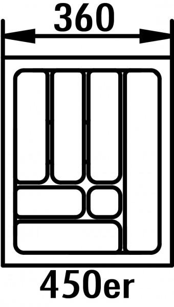 Naber, 8034257, Besteckeinsatz 5, für 450er Schrank, B 360, T 480 mm, Erkelenz