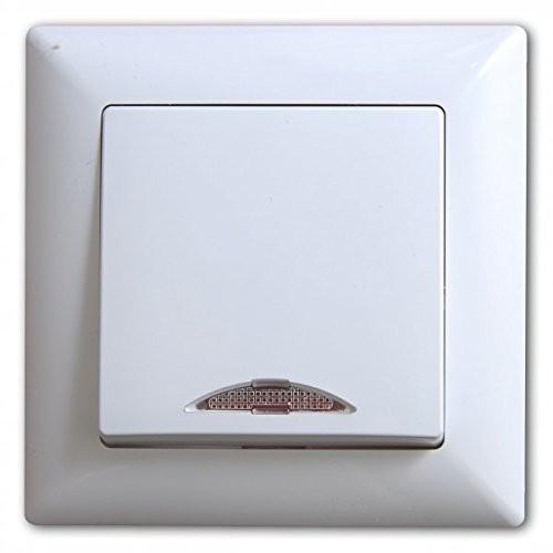 Gunsan, 1281100200102, Visage, Schalter, Ein-/Ausschalter, mit Beleuchtung, Weiss, Erkelenz