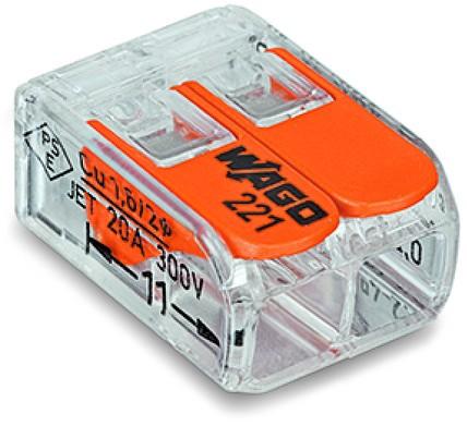 Wago 2-Leiter COMPACT Verbindungsklemmen 221-412