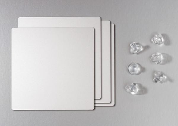 Naber, 3032043, Glasadapterplatte 40, edelstahlfarbig gebürstet, Erkelenz