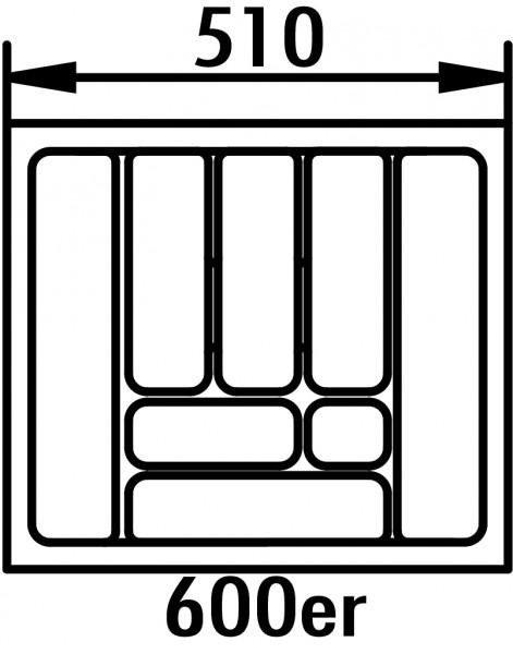 Naber, 8034259, Besteckeinsatz 5, für 600er Schrank, B 510, T 480 mm, Erkelenz