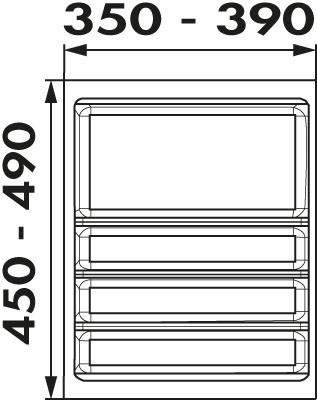 Naber, 8034211, Ordine, für 450er, Schrank, 1 Trennstege-Set, Erkelenz