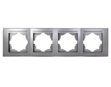Gunsan,01291500000145,Moderna,4-fach Rahmen,Silber,Erkelenz