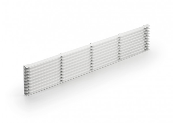 Naber 8033012, Sockel-Lüftungsgitter 1, silber, B 84 mm, L 480 mm, Sockel, Lüftung, Gitter, Erkelenz