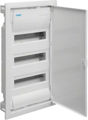Hager VU36NC Kleinverteiler Unterputz 3x12TE Kunststoff IP30 inkl. Tür