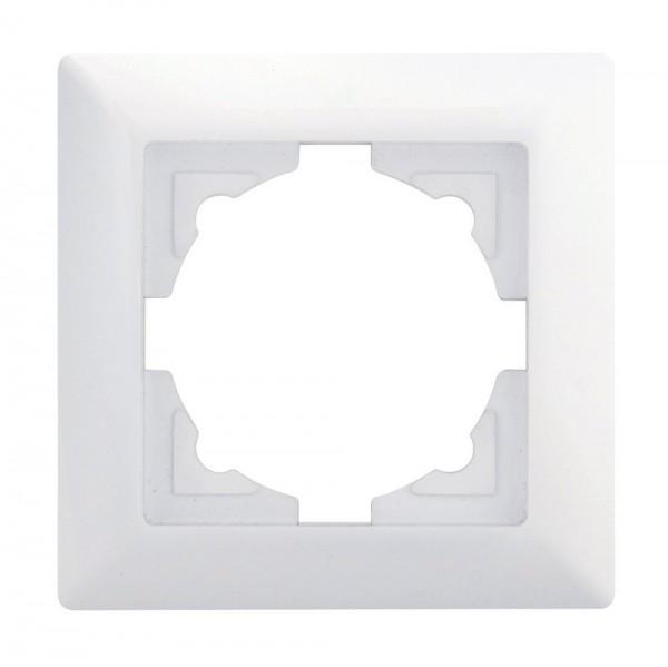 Gunsan, 01281100000140, Visage, 1-fach, Rahmen, für 1 Steckdose, Schalter, Dimmer, Weiss, Erkelenz