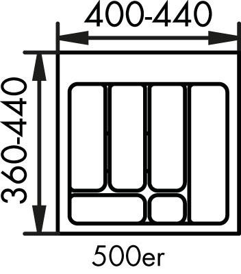 Naber, 8034122, Besteckeinsatz 2, für 500er, Schrank, Erkelenz