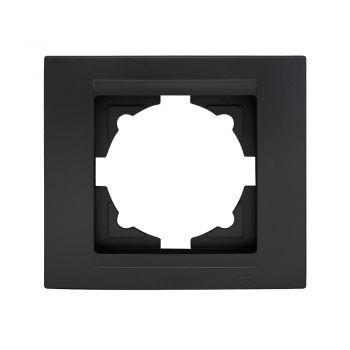 Gunsan 01293400000140 Moderna 1-fach Rahmen für 1 Steckdose Schalter Dimmer schwarz