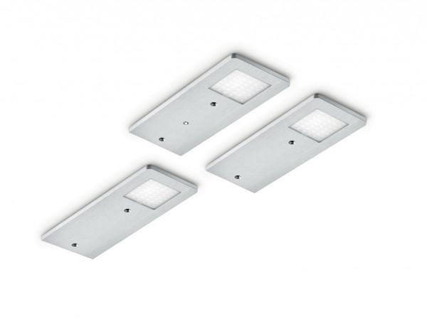 Naber, 7061263, Menta, Set-3 LED mit LED Touch Schalter u. Dimmer, Unterbauleuchte , Erkelenz