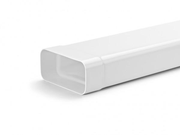 Naber, 4033004, MF-VRM 1000 System 125 Flachkanalrohr, mit Muffe, weiß, L 1000 mm, Erkelenz