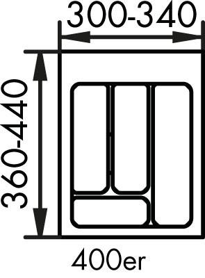 Naber, 8034120, Besteckeinsatz 2, für 400er, Schrank, Erkelenz