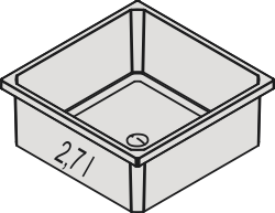 Naber, 8012362, Aufbewahrungsbox, dunkelgrau, 2,7 Liter, Erkelenz