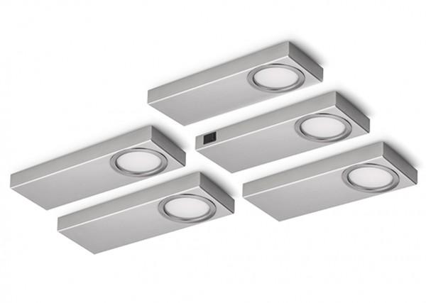 Naber 7064064, Rea 1 LED, Set-5, 3000 K warmweiß, Lampe, Unterbauleuchte, Erkelenz