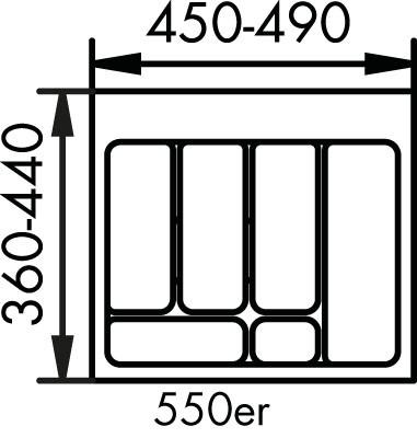 Naber, 8034123, Besteckeinsatz 2, für 550er, Schrank, Erkelenz