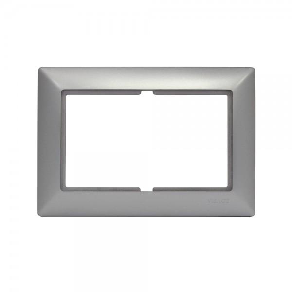 Gunsan, 1281500000178, Visage, 2-fach Rahmen, für 1 2-fach Steckdose, Silber, Erkelenz