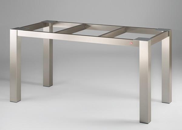 Naber, 3032013, Tischgestell 80, für Granitplatte, edelstahlfarbig, gebürstet, B 710, T 710 mm, Erkelenz