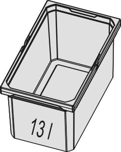 Naber, 8012330, Ersatzeimer, hellgrau, Erkelenz