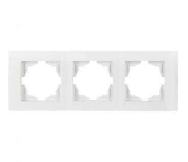 Gunsan Moderna, 3-fach Rahmen, 01291100000143, Steckdose, Schalter, Dimmer, weiß, 01291100000143, Erkelenz