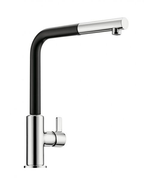 Naber 5023222, L-INE XS 3S Einhebelmischer. chrom/matt schwarz, Hochdruck, Erkelenz