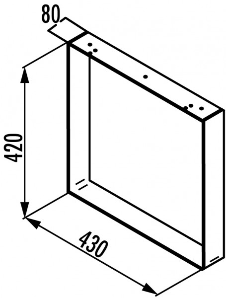 Naber, 3033093, Kufe für Bank, Edelstahl, H 420 mm, Erkelenz