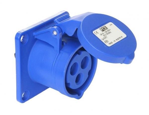 CEE Anbausteckdose Turbo Twist gerade 230V 16A IP44 PCE 313-6TT